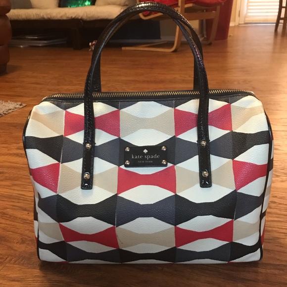 kate spade Handbags - Kate Spade Bow Print Satchel Bag